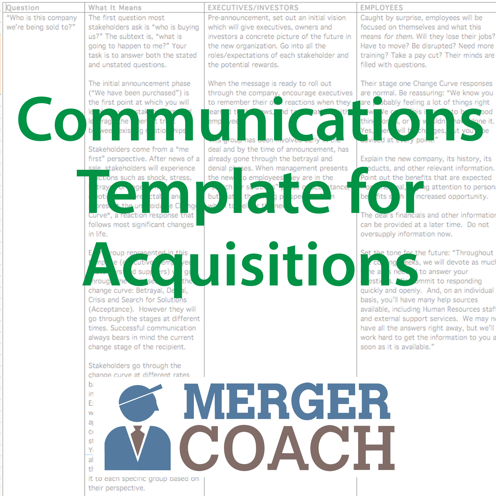 500x500 Commuications Template 01 Acquisition Project Plan Template