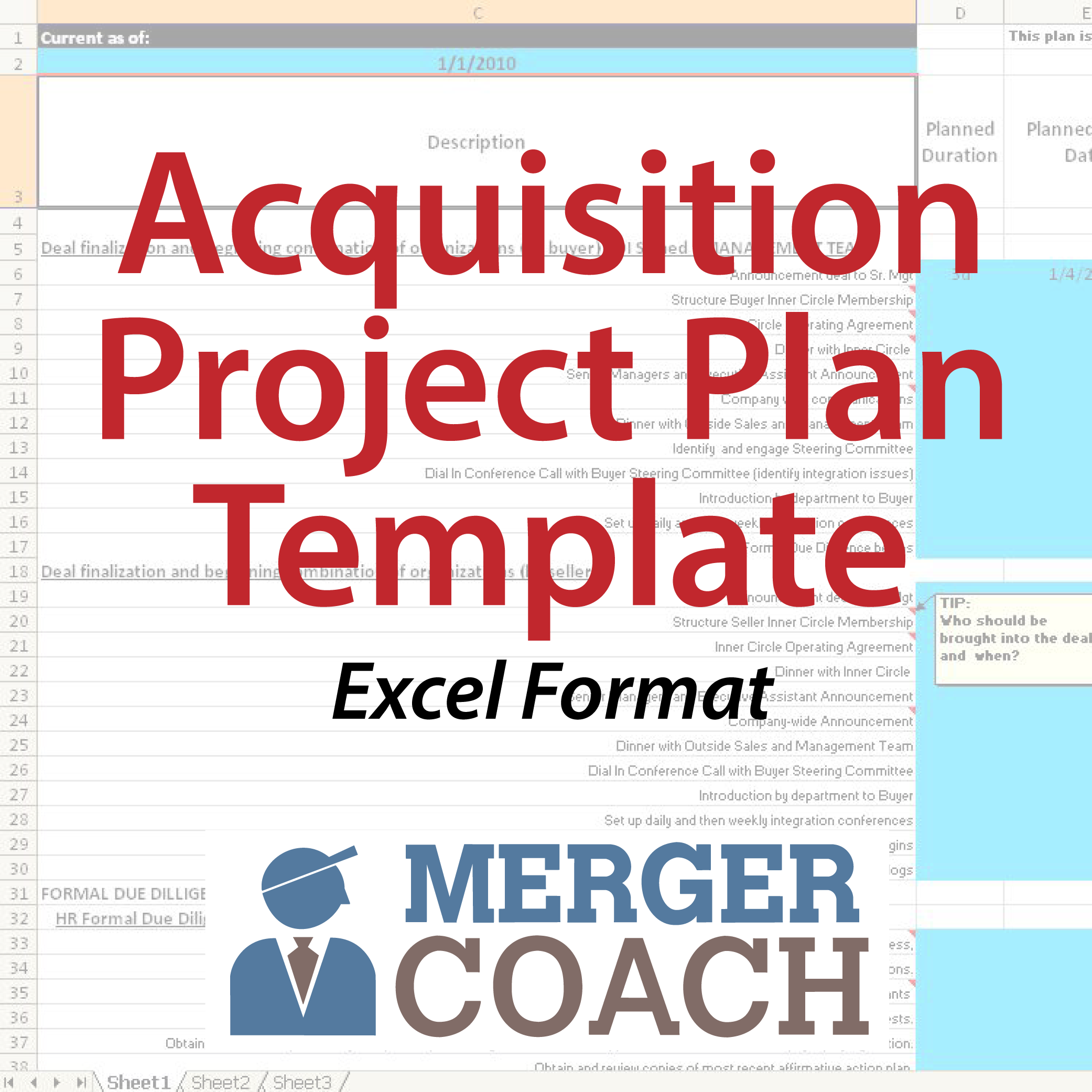 500x500 Excel Acquisition Project Plan Template 01 Acquisition Project Plan Template